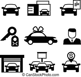Auto dealership, car industry selling, buying and renting...