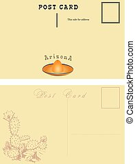 Postal card for Arizona