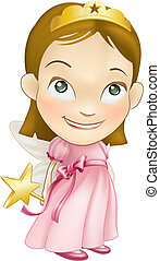 fairy princess white girl - An illustration of a young white...