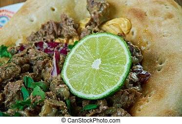 alambre mexicano - popular Mexican dish consisting of...