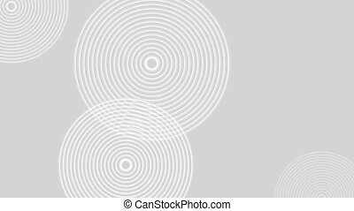 Abstract grey white rings video animation - Abstract grey...