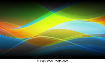 Abstract colorful waves video animation - Abstract colorful...