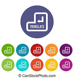 Translate button set icons