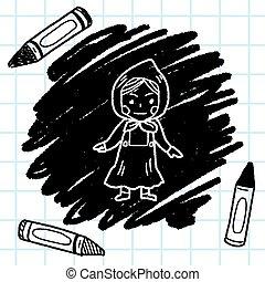 Dutch woman doodle