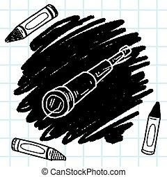 telescope doodle
