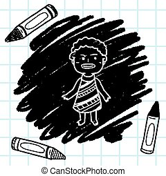 African people doodle
