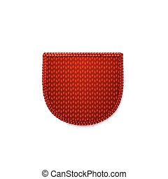Red knitted pocket