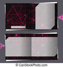 Graphic illustration. - Brochure template with abstract...