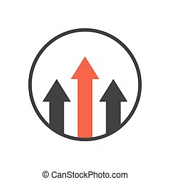 advantage icon. business growth concept. isolated on white...