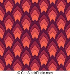 Vector abstract seamless pattern with pointed ovals ....