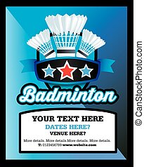 Badminton club, event or match advert style poster