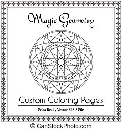Circular Ornament for Adults Coloring Book - Coloring book...