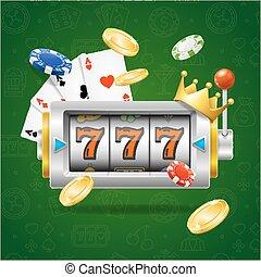 Casino Concept Slot Machine. Vector