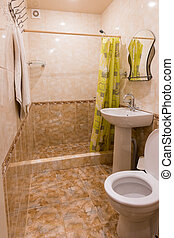 Interior small bathroom seaside resort rooms