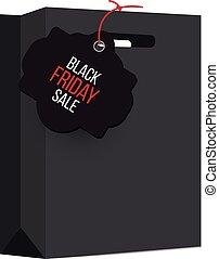 Elegant black shopping bag