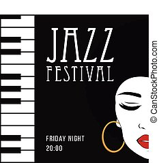 Jazz music, poster background template.