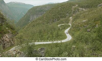 Road in the mountains. Norway
