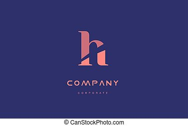 h company small letter logo icon design - h alphabet small...