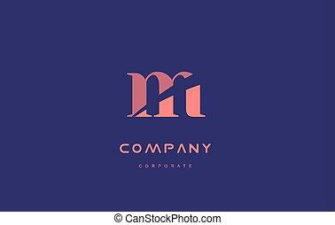 m company small letter logo icon design - m alphabet small...