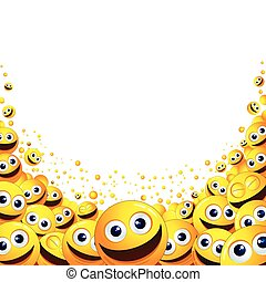 Funny Smiley Background. Ready for Text and Design