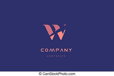 w company small letter logo icon design - w alphabet small...