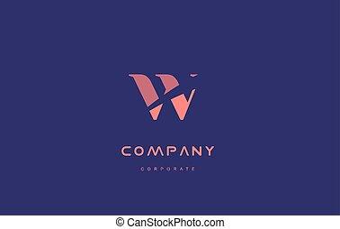 w company small letter logo icon design - w alphabet small...