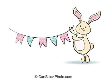Cute hand drawn bunny.