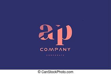 p a ap company small letter logo icon design - p a ap...