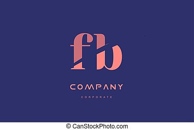 b f fb company small letter logo icon design - b f fb...