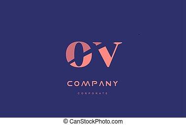 v o ov company small letter logo icon design - v o ov...
