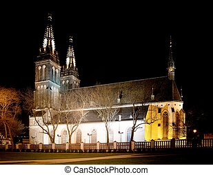 Vysehrad castle - Prague - Czech Republic - nightly view...