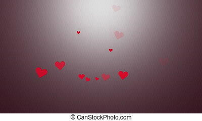 Valentine hearts appearing colorful scene