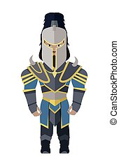 Fantasy Knight Character Vector Illustration. - Fantasy...
