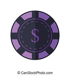 Gambling chip Vector Illustration In Flat Design. - Gambling...