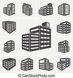 Building Icons illustration vector - Building Icons Vector...