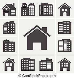 Building Icons Vector illustration series