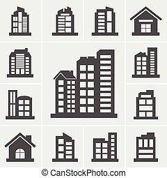 Building Icons Vector illustration set