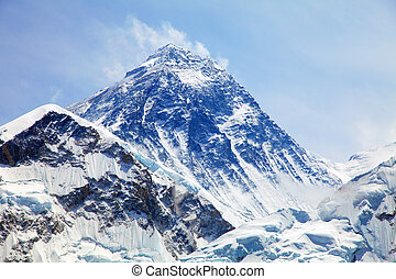 View of top of Mount Everest from Kala Patthar - Mount...