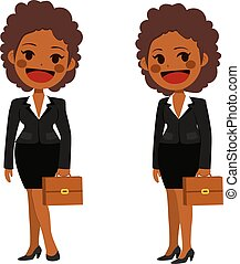African American Businesswoman - Young African American...