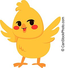 Little Chick - Illustration of cute little happy chick...