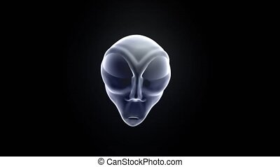 Alien grey head face creepy extraterrestrial gray martian...