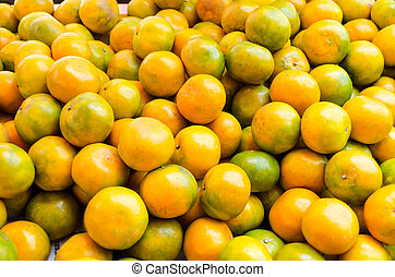 orange fruit sell at steet Thailand