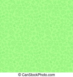 Smooth rock-painting style prehistoric floral seamless vector pattern.