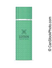 Lotion Natural Series - Lotion natural series. Green plastic...