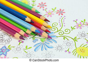 Adult coloring antistress - Adult coloring books and colored...