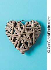 Heart-Shaped Woven Wicker Decoration for Valentine's Day,...