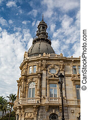 Old Government Building in Cartagena Spain - Classic stone...