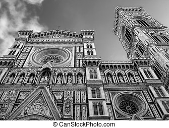 The Facade - The front of the Duomo in Florence, Italy