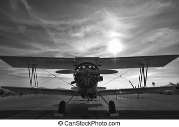 Crop Duster - A crop duster sits on a New Mexico runway.