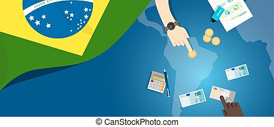 Brazil fiscal money trade concept illustration of financial...